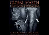 Global March voor olifanten, neushoorns en leeuwen
